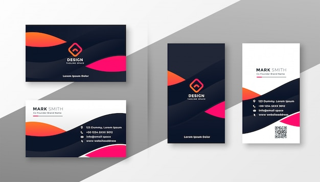 Elegante tarjeta corporativa para su negocio vector gratuito