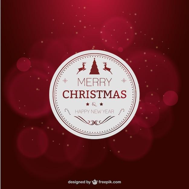 elegante tarjeta de navidad de color rojo vector gratis
