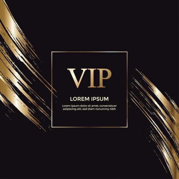 Elegante Tarjeta De Invitación Vip Gold Vector Premium