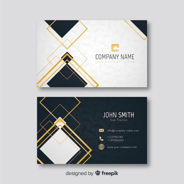 Elegante tarjeta de visita con detalles dorados. vector gratuito