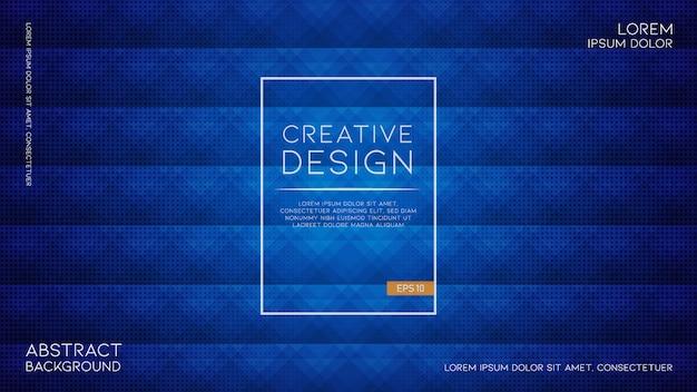Elegante textura geométrica abstracta sobre fondo azul cálido Vector Premium