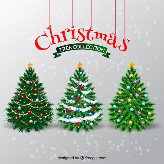 Elegantes rboles de navidad descargar vectores gratis - Arboles de navidad elegantes ...