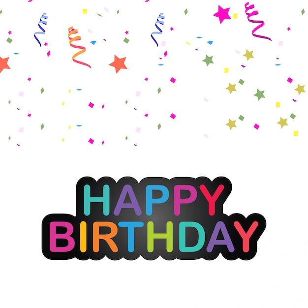Elegent design card of happy birthday vector Vector Premium