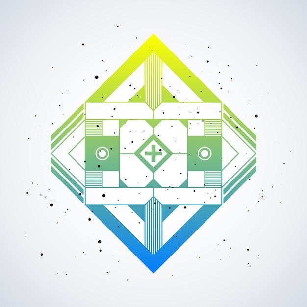 Elemento de diseño futurista con degradado de colores sobre fondo ...