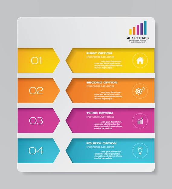 Elemento de infografía gráfica Vector Premium