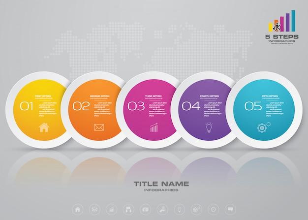 Elemento infográfico línea de tiempo. Vector Premium