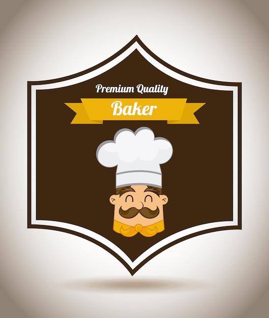 Elemento de panadería simple vector gratuito