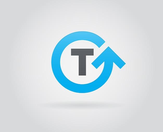 Elemento de plantilla de icono de logotipo en letra Vector Premium