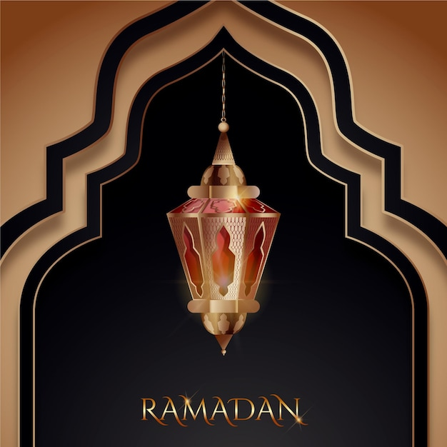 Elemento de ramadan kareem realista vector gratuito
