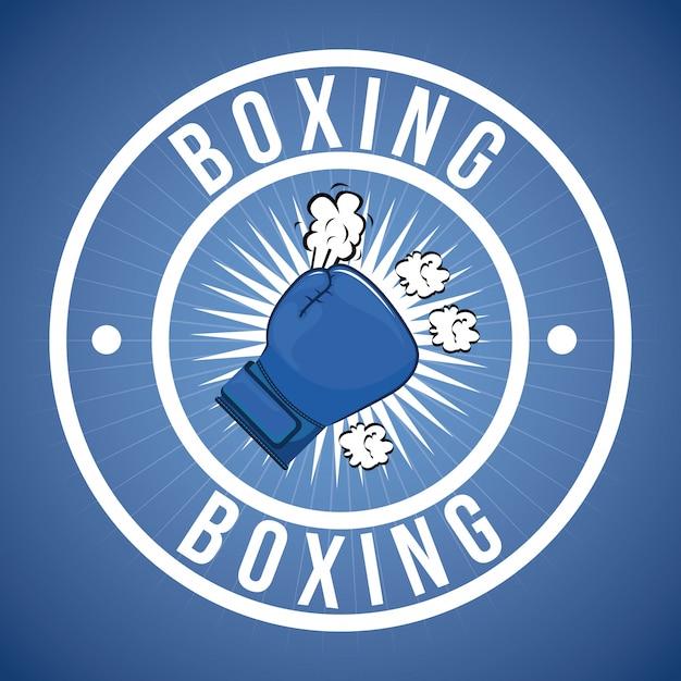 Elemento simple de boxeo vector gratuito