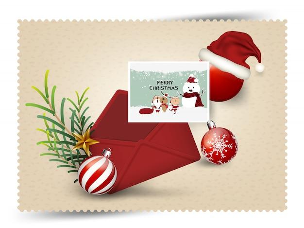 Carta De Felicitaciones De Navidad Y Ano Nuevo.Elementos De La Carta Tarjeta De Felicitacion De Navidad De