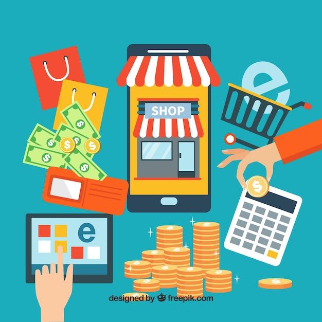 Elementos de comercio electrónico | Descargar Vectores gratis
