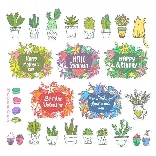 Elementos de diseño coloridos Vector Gratis