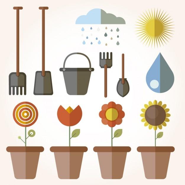 elementos de jardiner a en dise o plano descargar