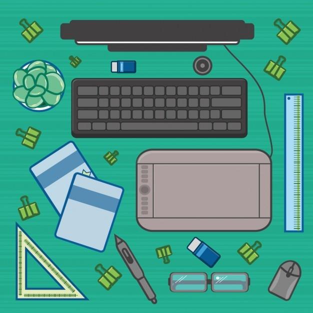 Elementos de oficina descargar vectores gratis for Elementos para oficina