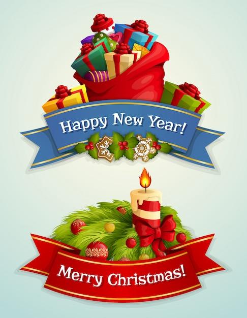 Elementos decorativos de navidad descargar vectores premium - Decorativos de navidad ...