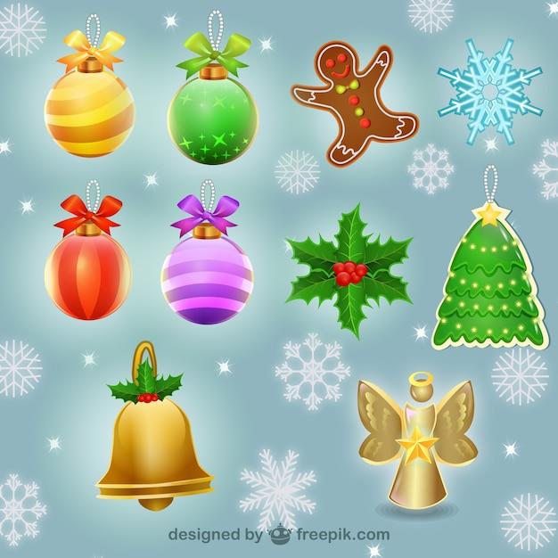 Elementos decorativos de navidad descargar vectores gratis - Decorativos de navidad ...