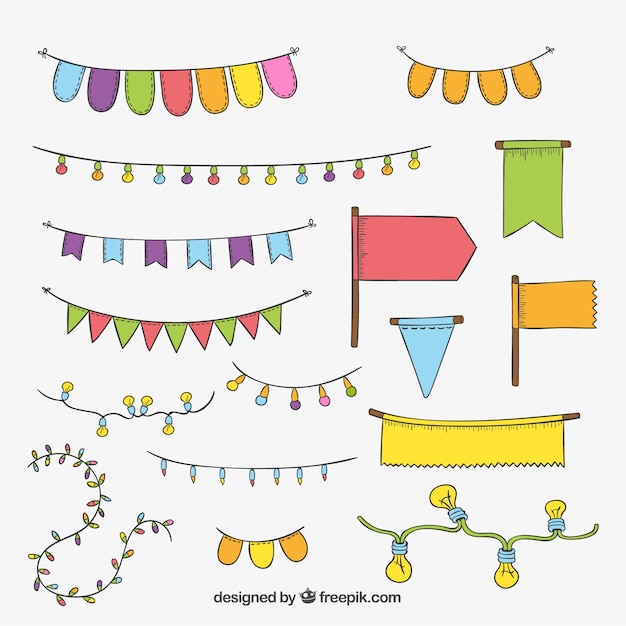 elementos decorativos para fiestas descargar vectores gratis