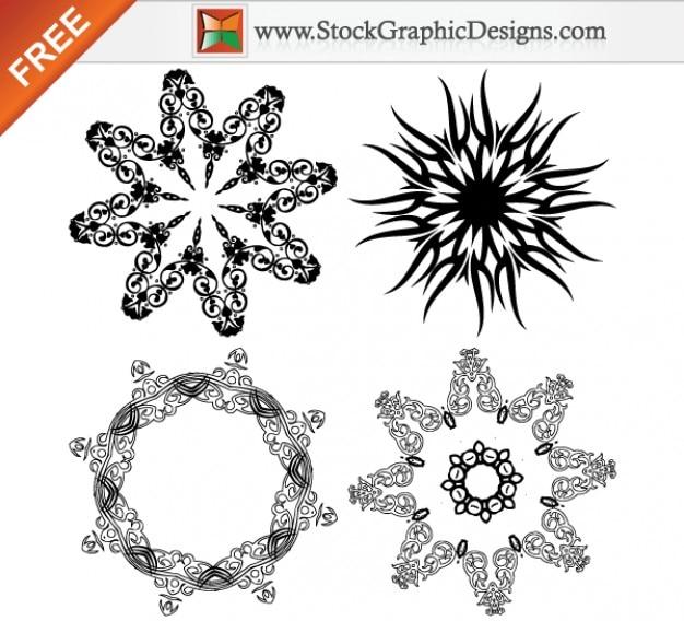 Elementos De Diseño Hermoso Adornado De Dibujo Vectorial