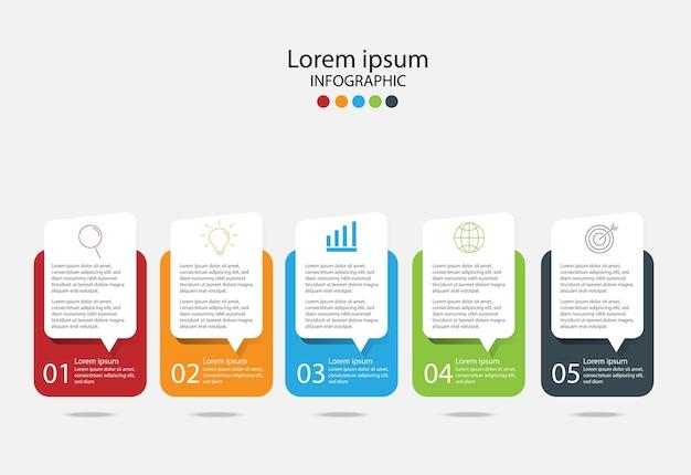 Elementos de diseño moderno para negocios. Vector Premium