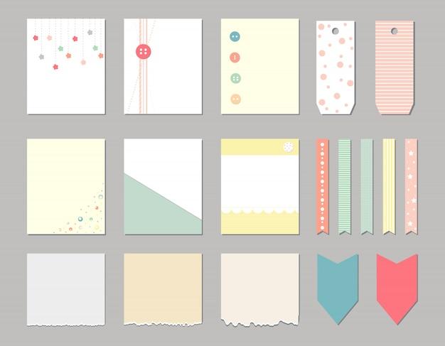 Elementos de diseño para notebook Vector Premium