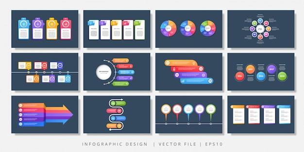 Elementos de diseño vectorial infografía. diseño infográfico moderno Vector Premium