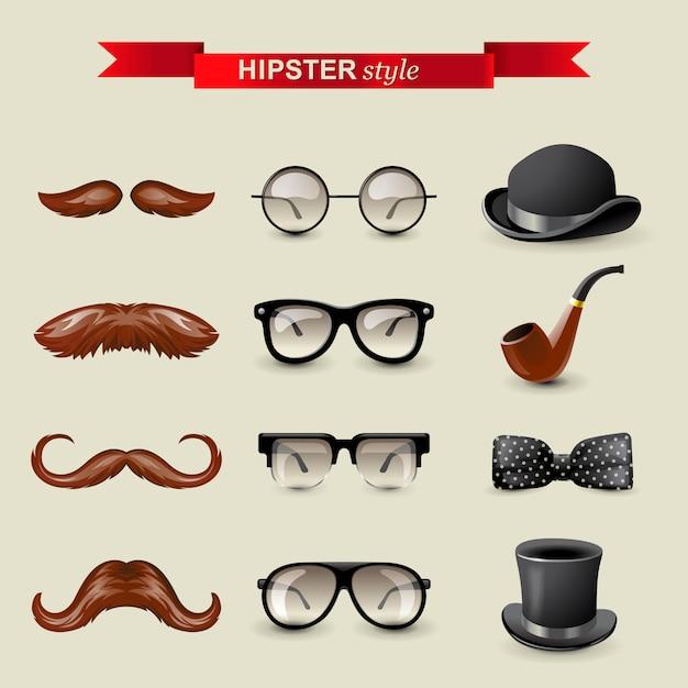 Elementos de estilo hipster Vector Premium