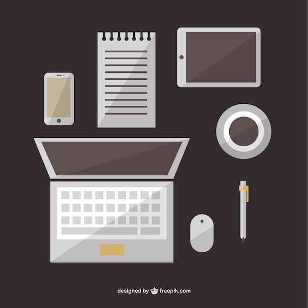 Elementos gr ficos de oficina descargar vectores gratis for Elementos para oficina