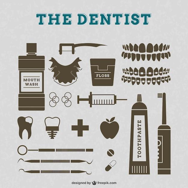 Elementos gráficos de dentistas vector gratuito
