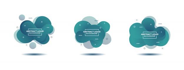 Elementos gráficos modernos abstractos. formas y líneas dinámicas de colores. gradiente banners abstractos con formas líquidas que fluyen. Vector Premium