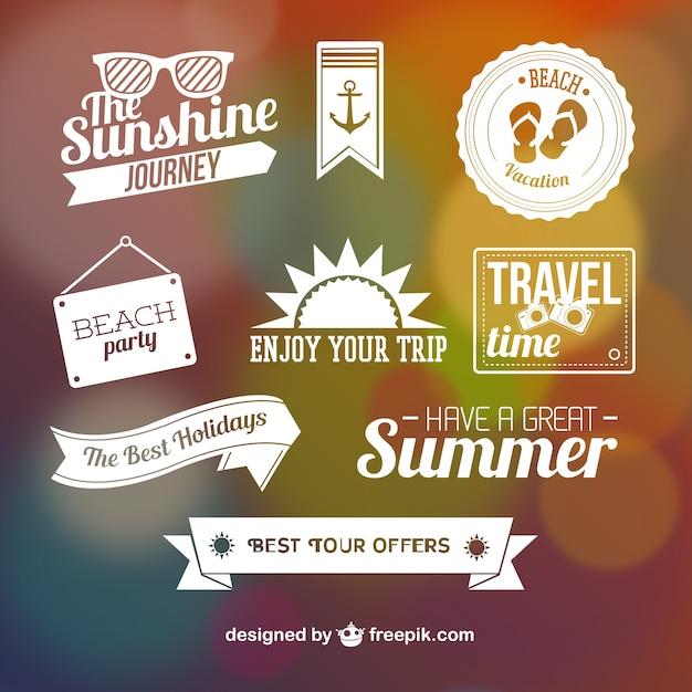 Elementos gráficos de verano vector gratuito