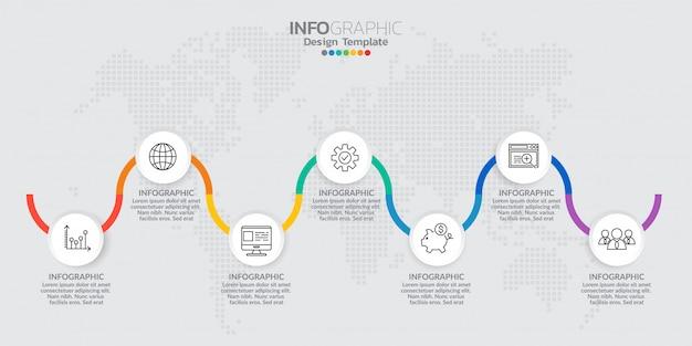 Elementos de infografía para contenido, diagrama, diagrama de flujo, pasos, partes, línea de tiempo, flujo de trabajo, gráfico. Vector Premium