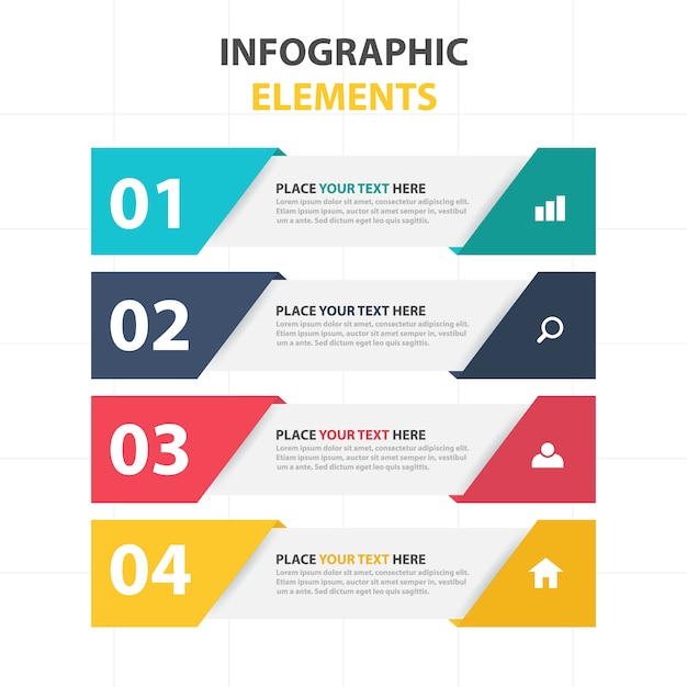 Elementos infográficos de banners corporativos Vector Gratis