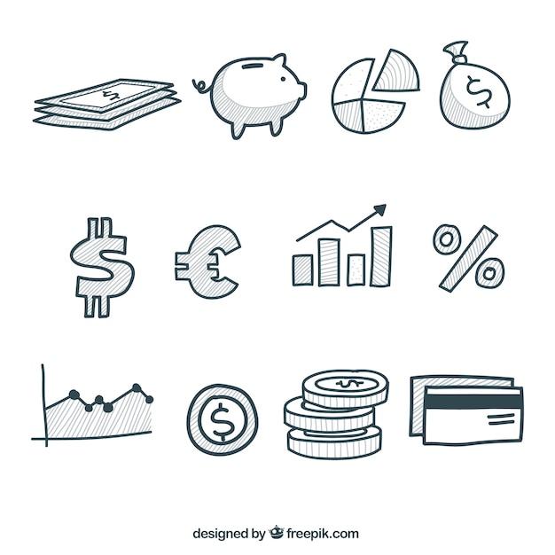 Elementos infográficos de dinero vector gratuito
