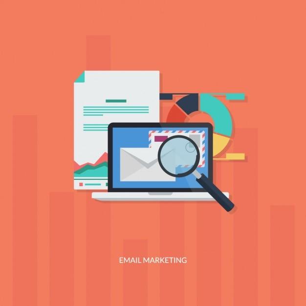 Elementos de marketing en línea vector gratuito