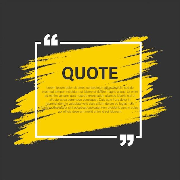 Elementos modernos de citas modernas de bloques plantilla de marco de texto de citas y comentarios creativos Vector Premium