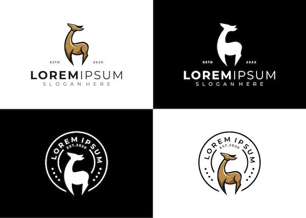 Emblema de ciervo logo set creative Vector Premium