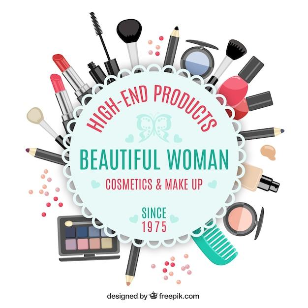 Emblema de tienda de belleza Vector Premium