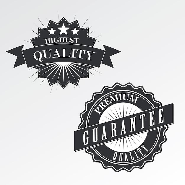 Emblemas de calidad premium (etiquetas) en estilo vintage, vector Vector Premium