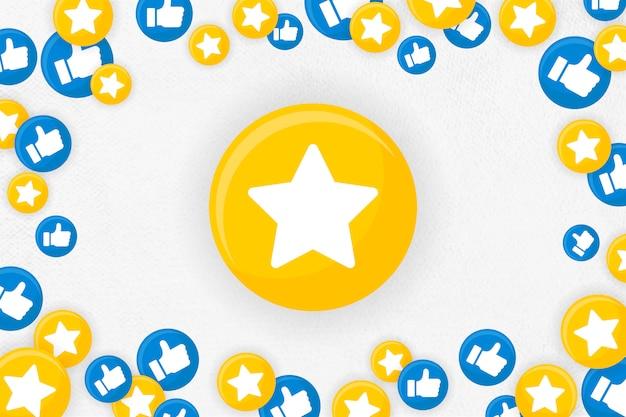 Emoji fondo enmarcado vector gratuito