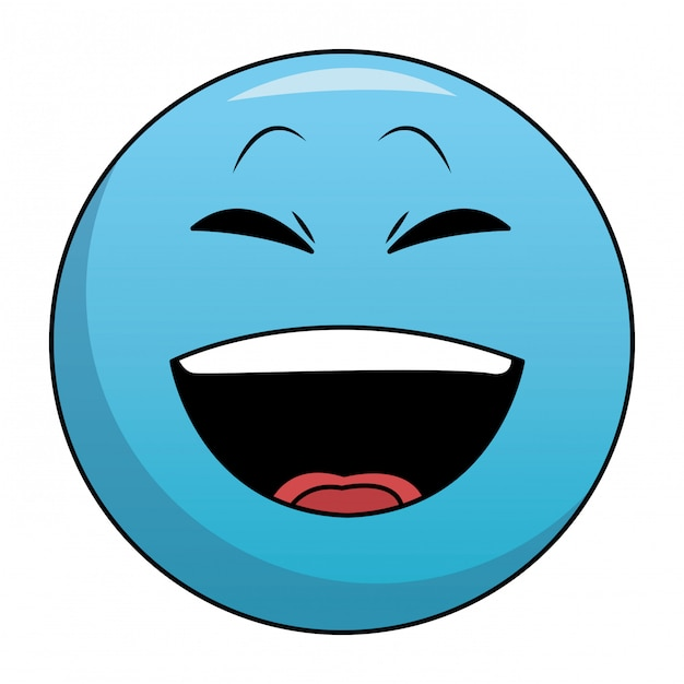 Emoticon De Risa Chat Descargar Vectores Premium