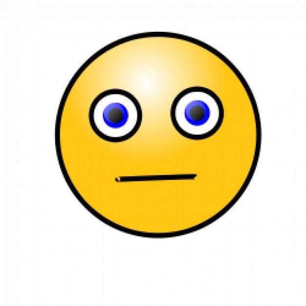 Emoticones: cara de preocupación Vector Gratis