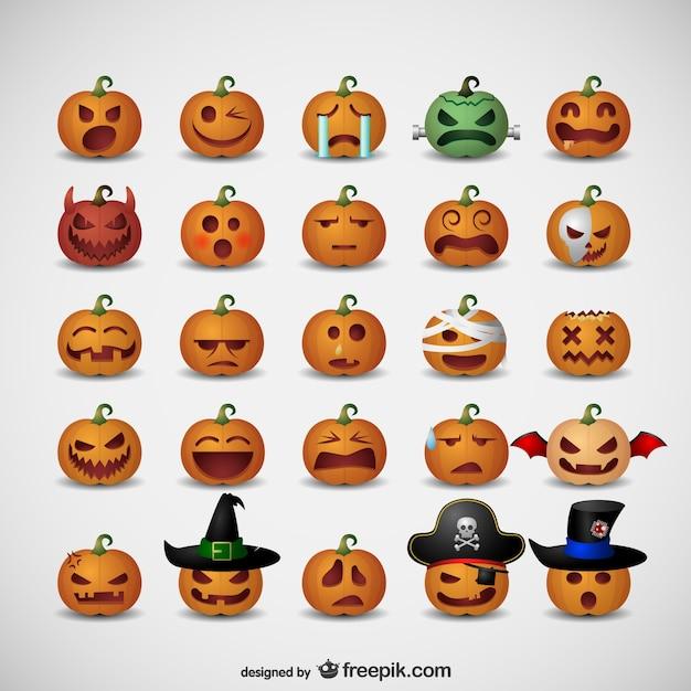 Emoticonos de calabazas para halloween descargar - Calabazas pintadas para halloween ...