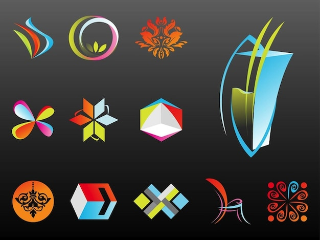 Empresa abstract logo templates vector descargar for Logo de empresa gratis