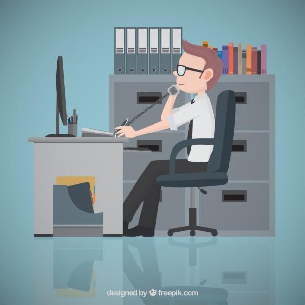 Empresario en la oficina descargar vectores gratis for Follando en la oficina gratis
