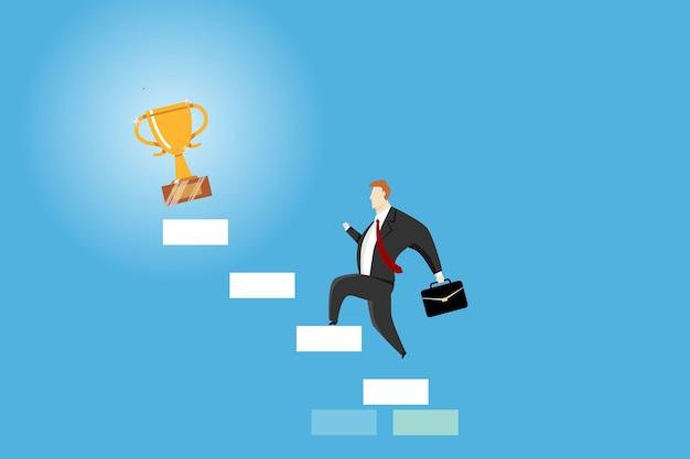 empresario subiendo escaleras obtener trofeo premio 9007 20 - TEXT - 034 - THE GREATEST OF THE CENTURY