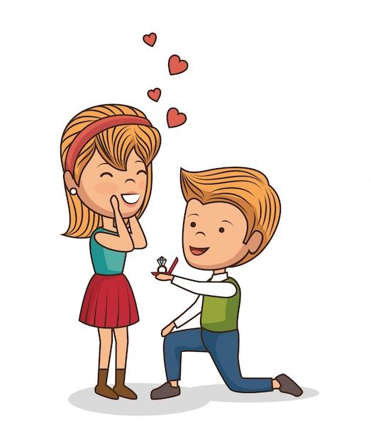 Encantadora pareja dia de san valentin vector gratuito