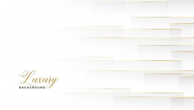 Encantadoras líneas doradas horizontales fondo blanco. vector gratuito