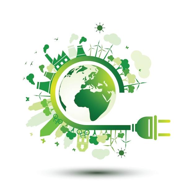 Enchufe ecológico Vector Premium