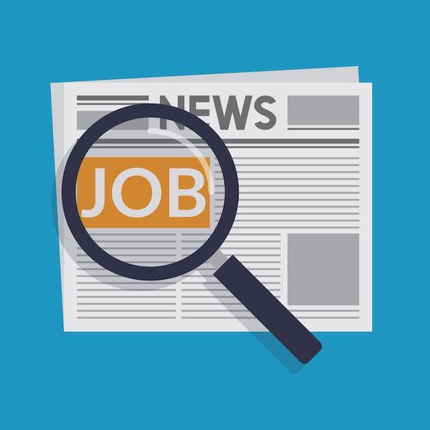 Encontrar un trabajo Vector Premium